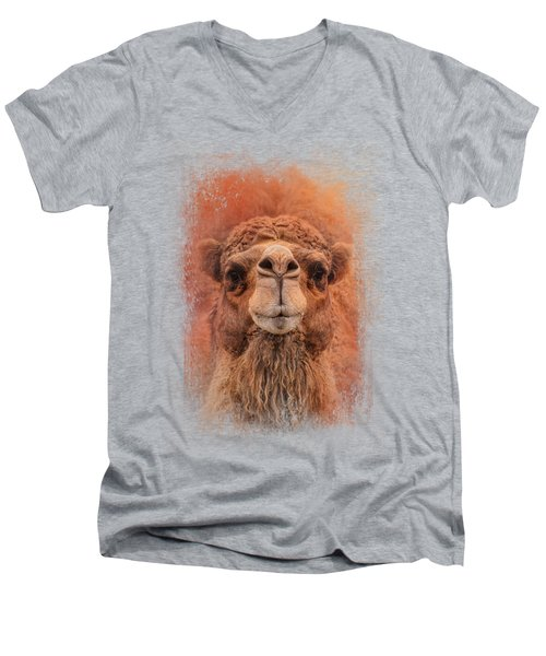 Dromedary Camel Men's V-Neck T-Shirt by Jai Johnson
