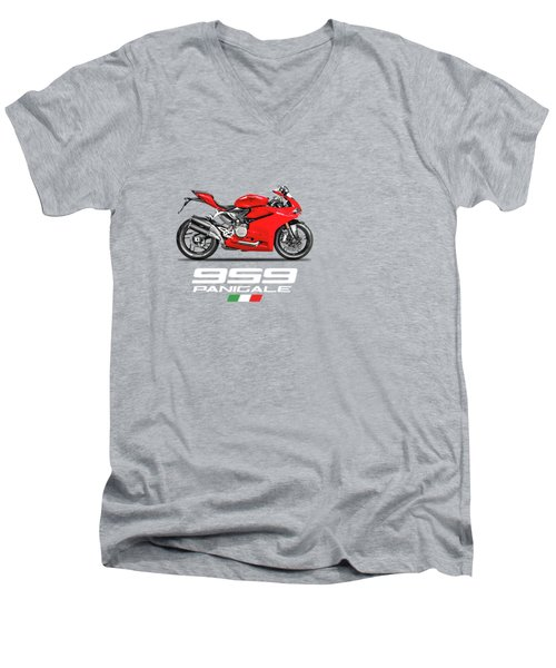 Ducati Panigale 959 Men's V-Neck T-Shirt by Mark Rogan