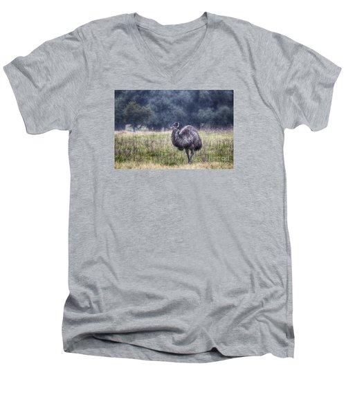 Early Morning Stroll Men's V-Neck T-Shirt by Douglas Barnard