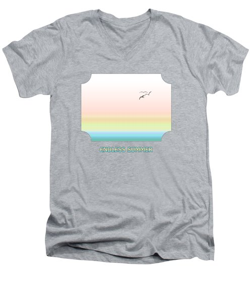 Endless Summer - Blue Men's V-Neck T-Shirt by Gill Billington