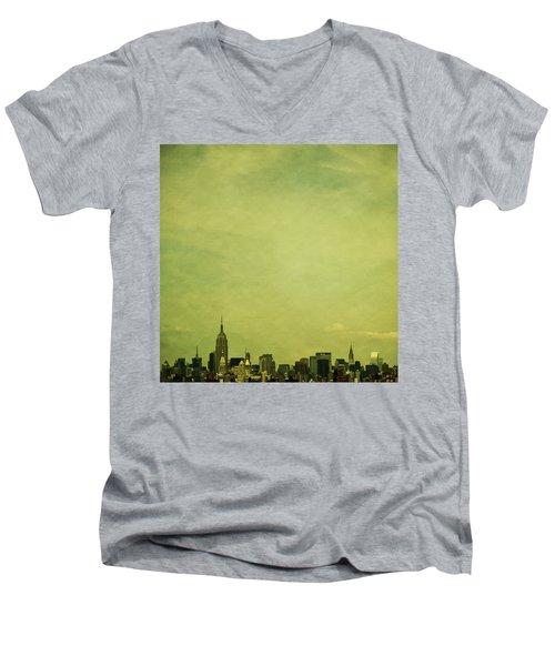 Escaping Urbania Men's V-Neck T-Shirt by Andrew Paranavitana