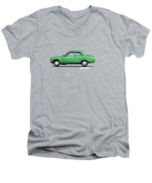 Escort Mark 1 1968 Men's V-Neck T-Shirt by Mark Rogan