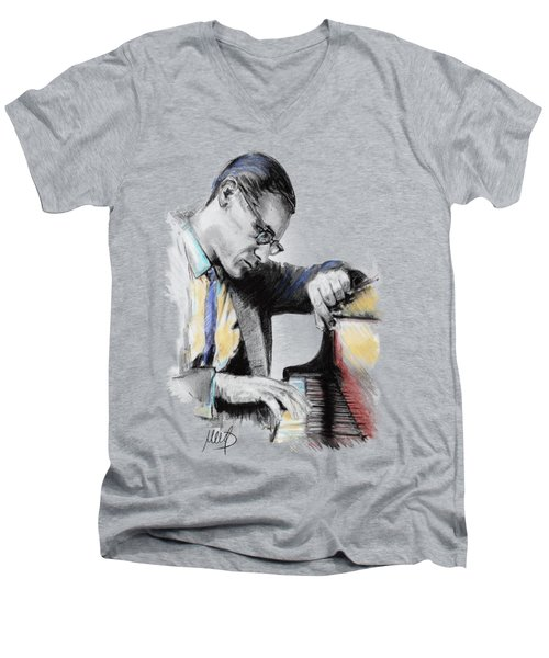Evans Bill Men's V-Neck T-Shirt by Melanie D