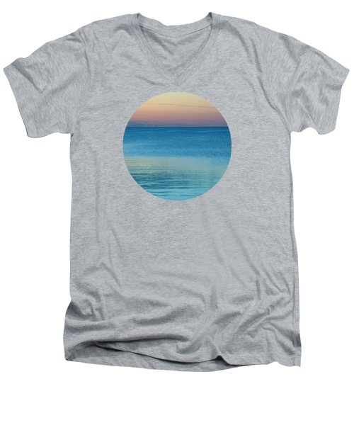 Evening At The Lake Men's V-Neck T-Shirt by Mary Wolf