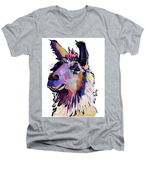 Fabio Men's V-Neck T-Shirt by Pat Saunders-White