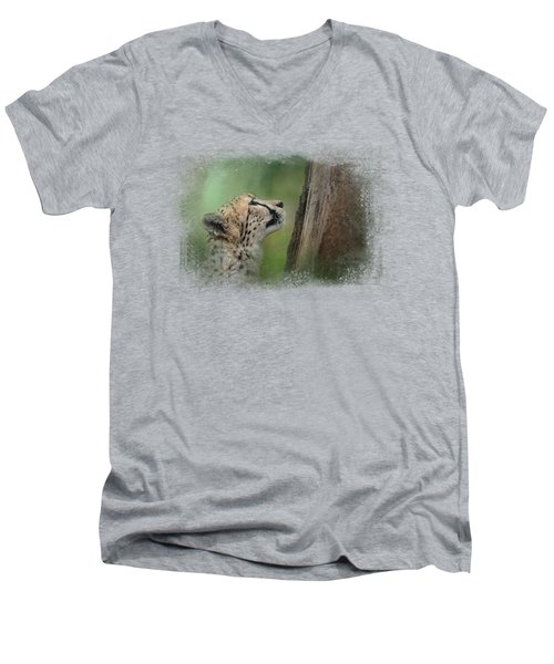 Facing Challenges Men's V-Neck T-Shirt by Jai Johnson