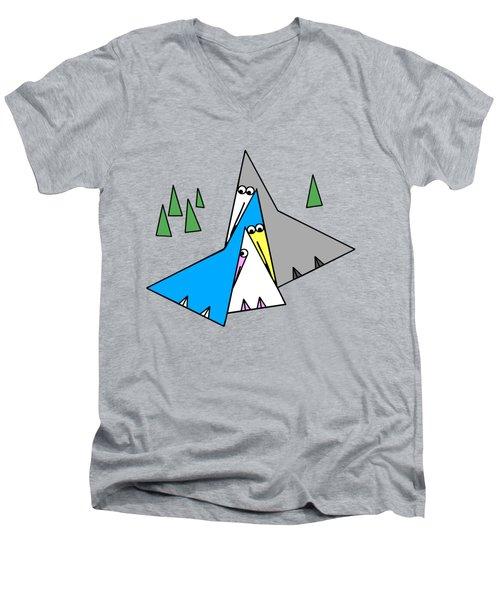 Family Men's V-Neck T-Shirt by Susan Eileen Evans