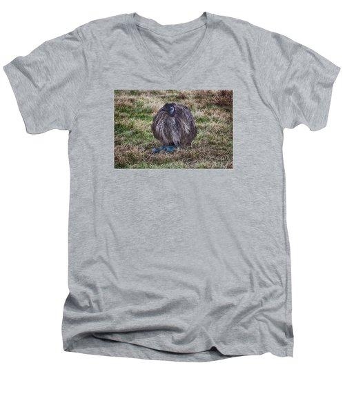 Feeling Kinda Broody  Men's V-Neck T-Shirt by Douglas Barnard