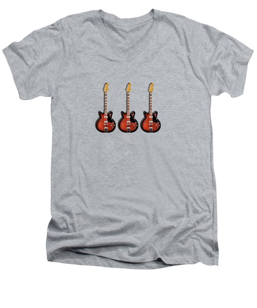 Fender Coronado Men's V-Neck T-Shirt by Mark Rogan