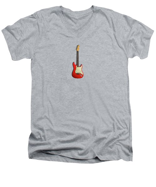 Fender Stratocaster 63 Men's V-Neck T-Shirt by Mark Rogan