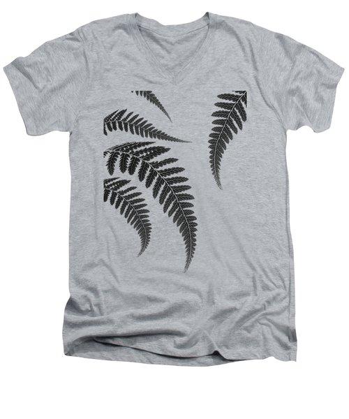 Fern Leaves Men's V-Neck T-Shirt by Mark Rogan