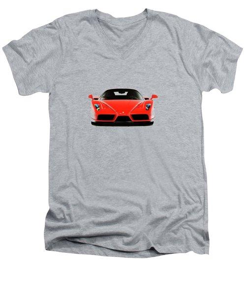 Ferrari Enzo Ferrari Men's V-Neck T-Shirt by Mark Rogan