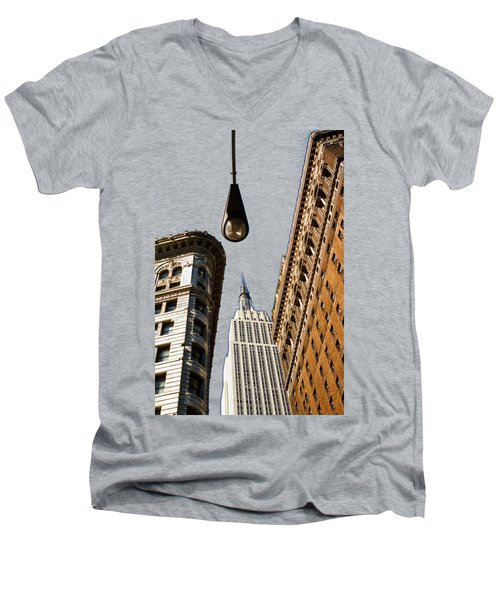 Flatiron District Men's V-Neck T-Shirt by Paul Lamonica
