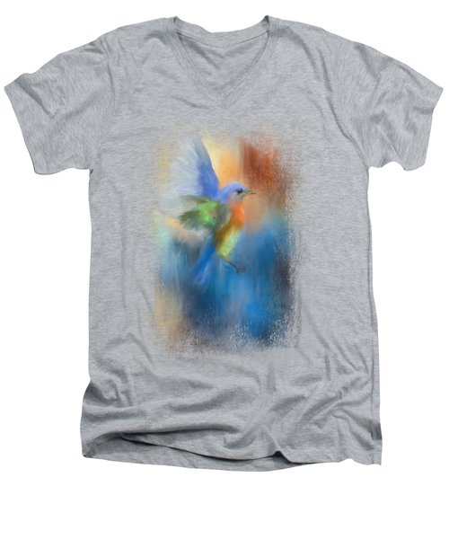 Flight Of Fancy Men's V-Neck T-Shirt by Jai Johnson