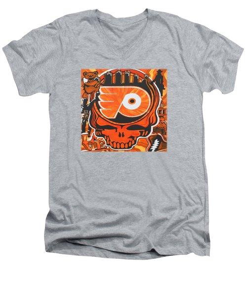 Flyer Love Men's V-Neck T-Shirt by Kevin J Cooper Artwork