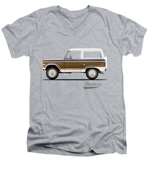 Ford Bronco Ranger 1976 Men's V-Neck T-Shirt by Mark Rogan