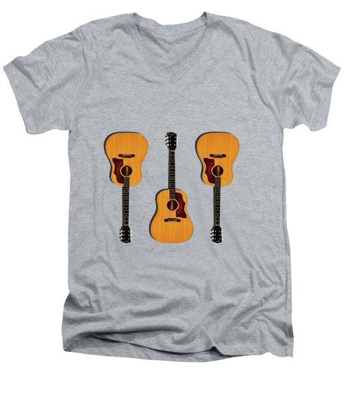 Gibson J-50 1967 Men's V-Neck T-Shirt by Mark Rogan