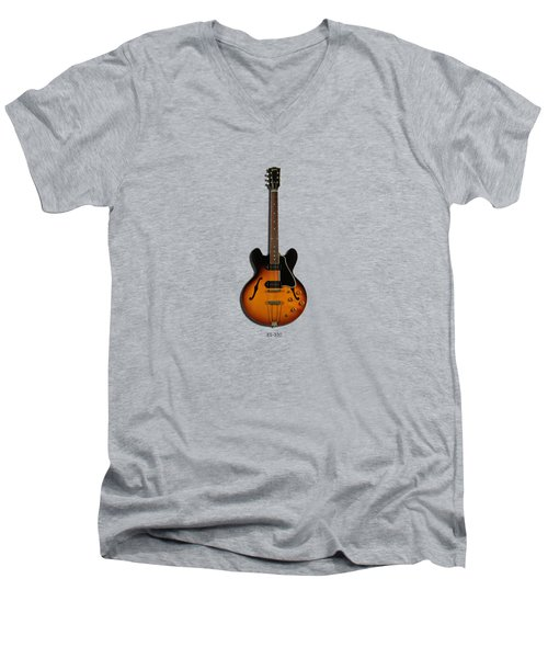 Gibson Semi Hollow Es330 Men's V-Neck T-Shirt by Mark Rogan