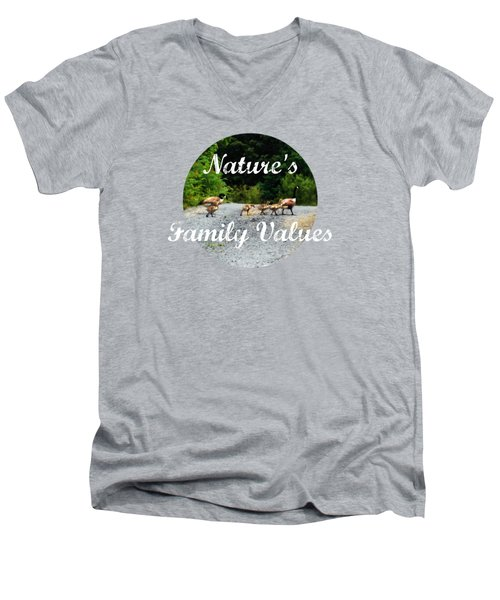 Goose Family Men's V-Neck T-Shirt by Anita Faye
