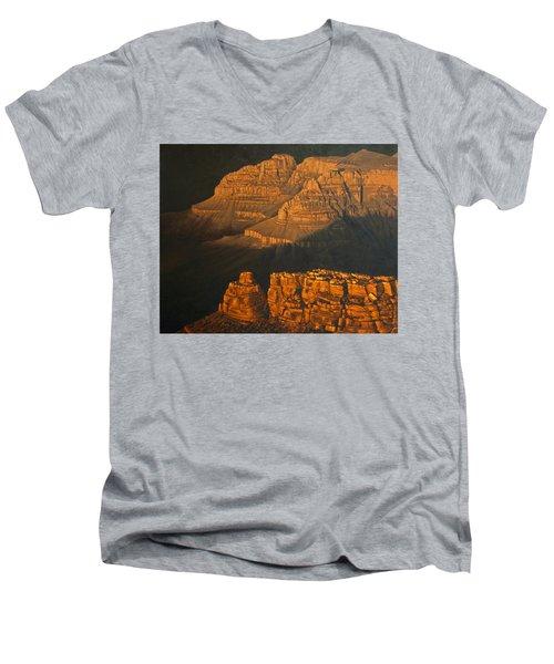 Grand Canyon Meditation Men's V-Neck T-Shirt by Jim Thomas