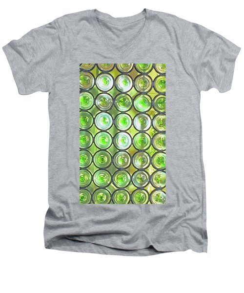 Green Window Men's V-Neck T-Shirt by Sandy Taylor