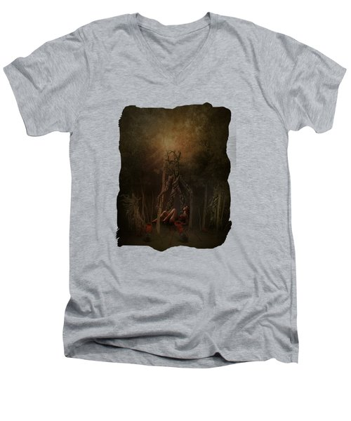 Guardians Of The Forest Men's V-Neck T-Shirt by Terry Fleckney