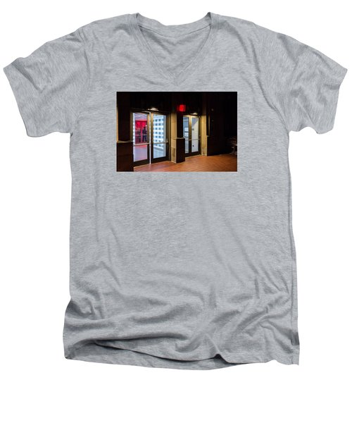 Men's V-Neck T-Shirt featuring the photograph Guarding The Door by M G Whittingham