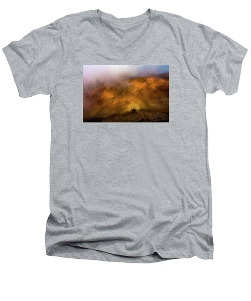 Men's V-Neck T-Shirt featuring the photograph Haleakala Halo by M G Whittingham