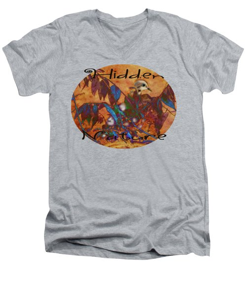 Hidden Nature - Abstract Men's V-Neck T-Shirt by Anita Faye