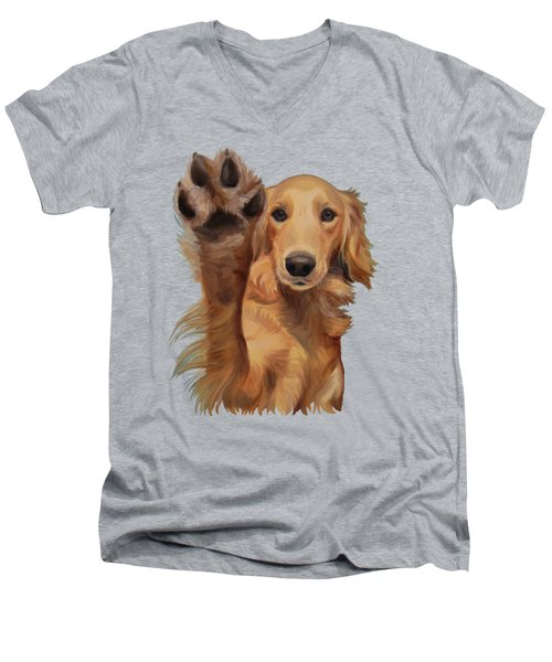 High Five Men's V-Neck T-Shirt by Jindra Noewi