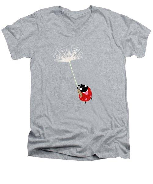 Hold On Men's V-Neck T-Shirt by Brigitte Carre