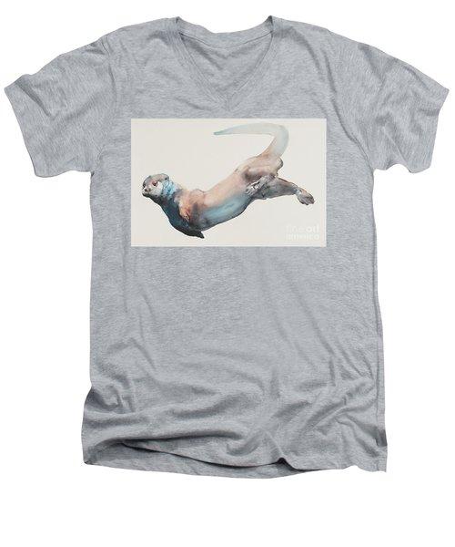 Hunting In The Deep Men's V-Neck T-Shirt by Mark Adlington