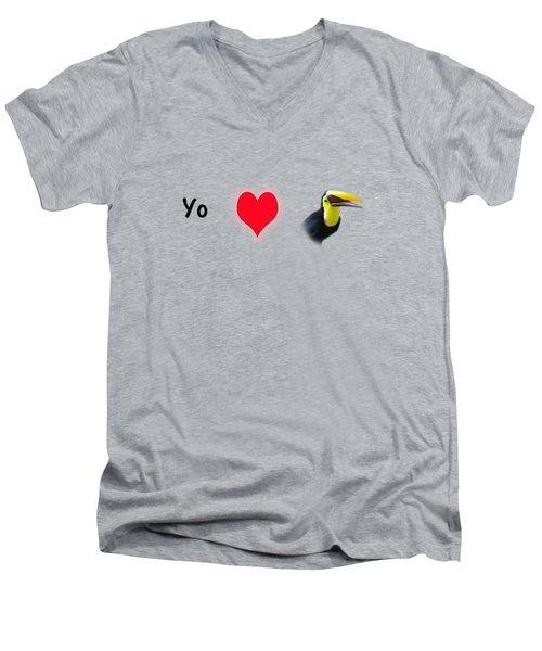 I Love Toucans Men's V-Neck T-Shirt by Paul  Gerace