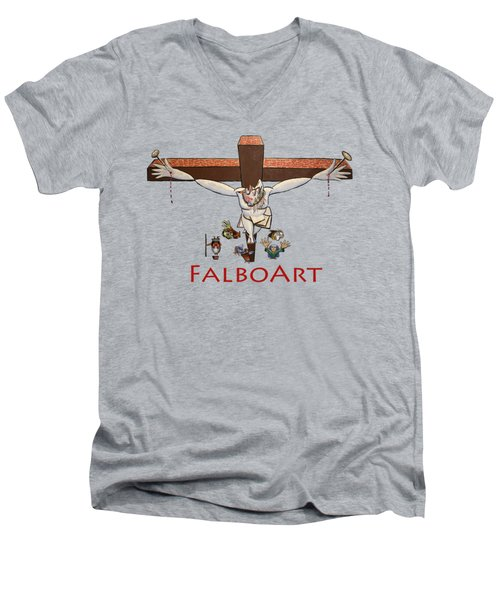 I Sacrificed My Life For You Men's V-Neck T-Shirt by Anthony Falbo