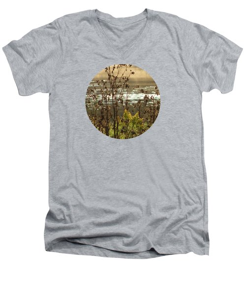 In The Golden Light Men's V-Neck T-Shirt by Mary Wolf
