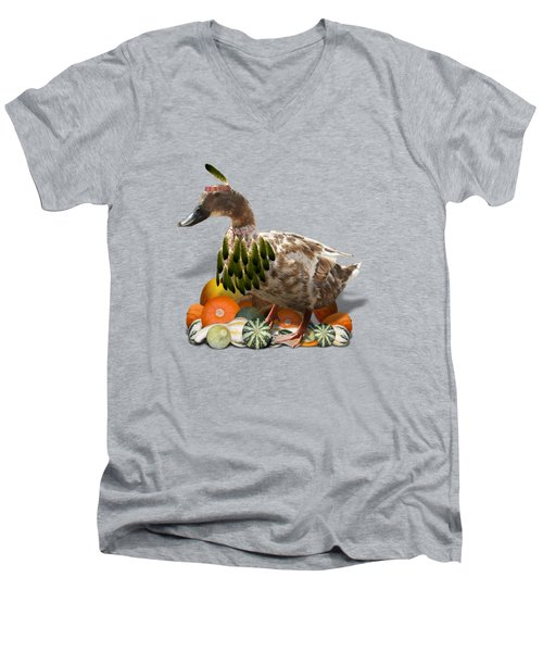 Indian Duck Men's V-Neck T-Shirt by Gravityx9 Designs