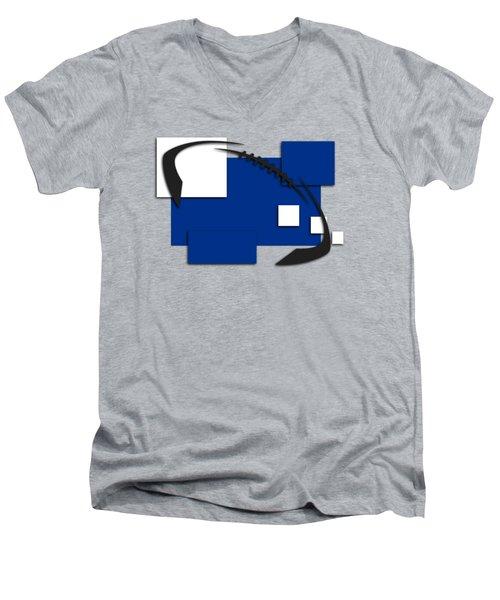 Indianapolis Colts Abstract Shirt Men's V-Neck T-Shirt by Joe Hamilton
