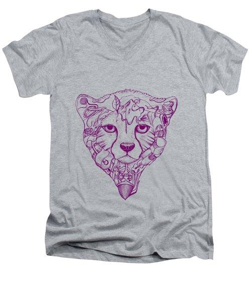 Iranian Cheetah Men's V-Neck T-Shirt by Adam Campbell