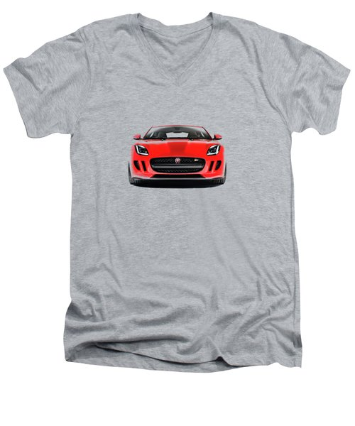 Jaguar F Type Men's V-Neck T-Shirt by Mark Rogan