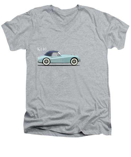 Jaguar Xk140 Men's V-Neck T-Shirt by Mark Rogan