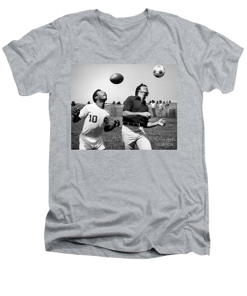 Joe Namath (1943- ) Men's V-Neck T-Shirt by Granger