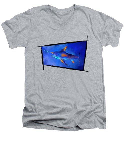 Kauderon V1 - Beautiful Swordfish Men's V-Neck T-Shirt by Cersatti