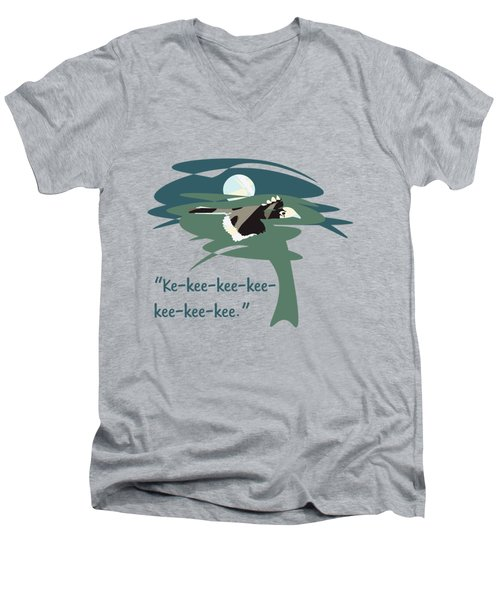 Kelingking Hornbill Men's V-Neck T-Shirt by Geckojoy Gecko Books