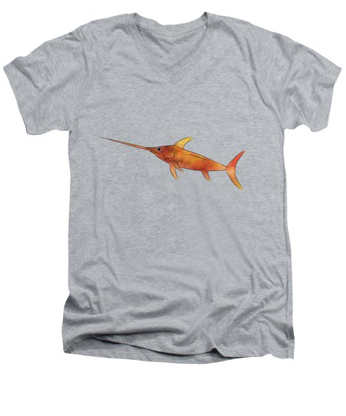 Kessonius V1 - Amazing Swordfish Men's V-Neck T-Shirt by Cersatti