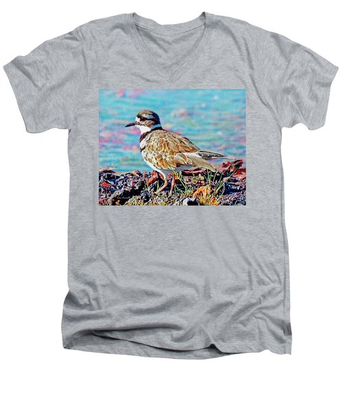 Killdeer  Men's V-Neck T-Shirt by Ken Everett