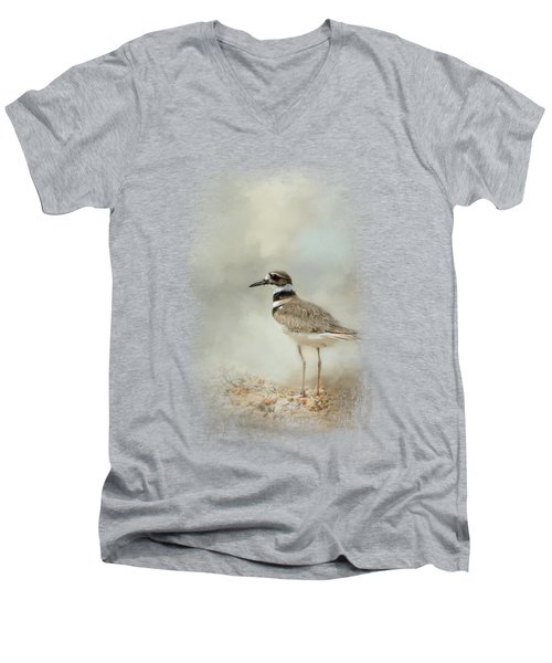 Killdeer On The Rocks Men's V-Neck T-Shirt by Jai Johnson
