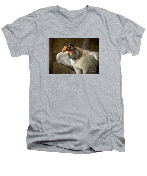 King Vulture Men's V-Neck T-Shirt by Jamie Pham