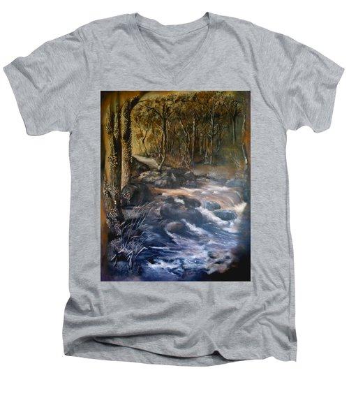 La Rance Men's V-Neck T-Shirt by Silk Alchemy