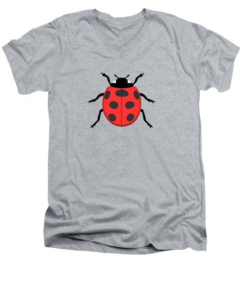 Ladybug Men's V-Neck T-Shirt by Gaspar Avila