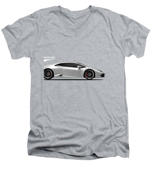 Lamborghini Huracan Men's V-Neck T-Shirt by Mark Rogan